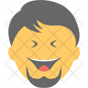 Bearded Man Laughing Icon