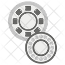 Gears And Bearings Automobile Parts Mechanical Tools Icon