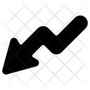 Arrow Graph Down Icon