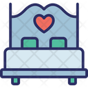 Bedroom Couple Bed Hotel Room Icon
