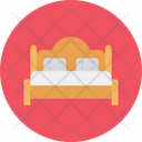 Bed Mattress Wooden Icon