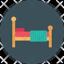 Bed Mattress Wooden Icon