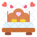Bed Heart Love And Romance Icon