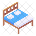 Double Bed Bed Furniture Icon