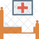 Bed Care Hospital Icon