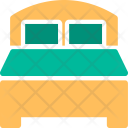 Bed Double Furniture Icon