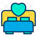 Love Heart Wedding Bed Icon