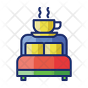 Bed And Breakfast Bed Tea Accommodation Icon