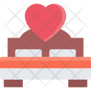 Bed Couple Love Icon