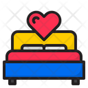 Bed Room Bed Valentine Icon