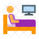 Watch Tv Bed Icon