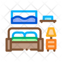 Bedroom Home Rooms Icon