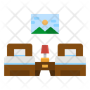 Beds Twin Bed Icon