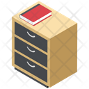Bedside Table Bedroom Furniture Drawers Icon