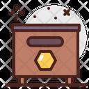 Bee Box Honey Box Bee House Icon