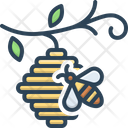 Bee In Hive Bee Hive Icon