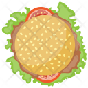 Beef Burger Patty Icon