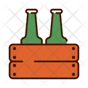 Beer Wooden Beer Carrier Beer Bucket Icon