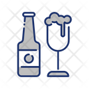 Beer And Bottle Icon