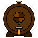 Beer Barrel Beer Keg Clover Icon