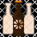 Beer Bottle Shamrock Beverage Icon