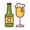 Beer Bottle And Glass Beer Bottle Glass Icon