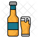 Beer Bottle And Glass Beer Bottle Icon