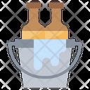 Bucket Beer Bottles Icon