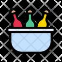Bottle Bucket Bar Icon