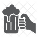 Beer mug in hand Icon