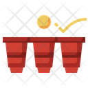 Beer Pong Party Hobbies Icon