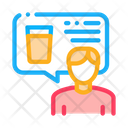 Man Talk Beer Icon