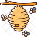 Bees Honey Insect Icon
