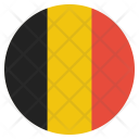 Belgium Flag Circle Icon