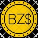 Belize Dollar Coin Money Icon
