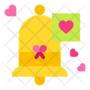Bell Ring Bell Heart Icon