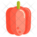Bell Pepper Capsicum Red Paper Icon