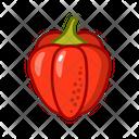 Bell Pepper Vegetables Vegetarian Icon