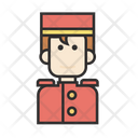 Bellboy Man Uniform Icon