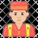 Hotel Staff Bellboy Bellman Icon