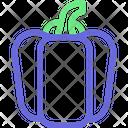Bellpepper Vegetable Veggies Icon