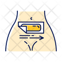 Belly Waxing Beige Icon