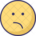 Bemused Face Emoticons Smiley Icon