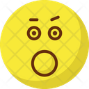 Bemused Face Stare Emoticon Yawn Icon