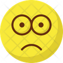 Bemused Face Gaze Emoticon Stare Emoticon Icon