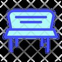 Bench Design Furniture Icon
