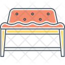 Bench Seating Chair Icon