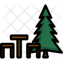 Bench Tree Hike Icon
