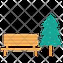 Bench Seat Tree Icon
