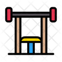Bench Press Gym Icon